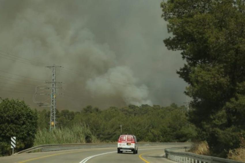 3.500 israelíes evacuados de sus casas por los incendios, Israel pide ayuda internacional